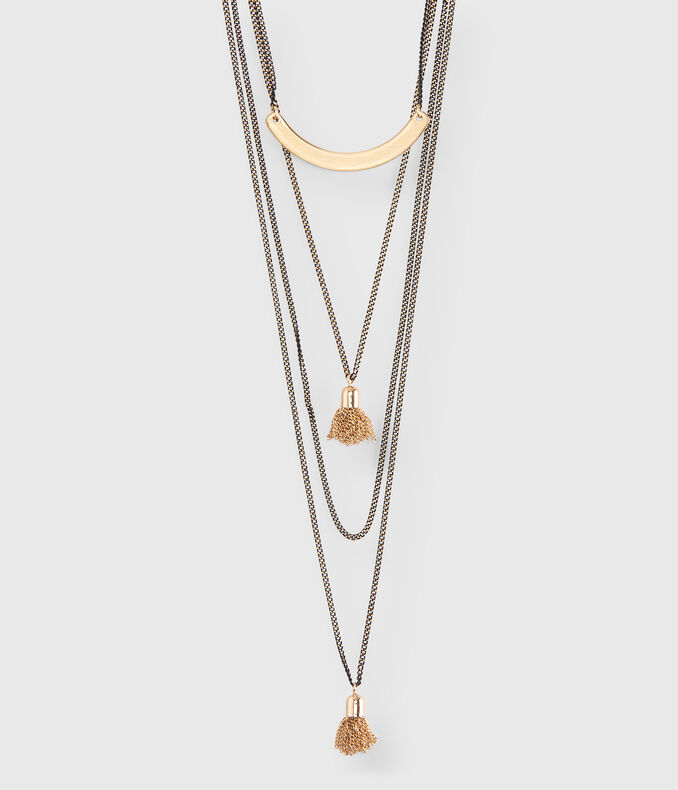 Tassel Layered Long-Strand Necklace
