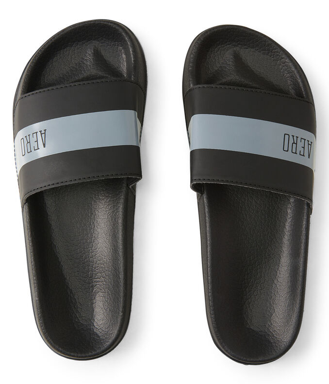 Aero Striped Slide Sandal | Tuggl