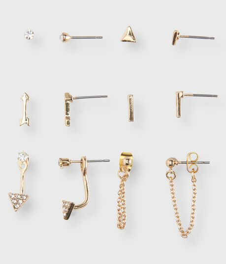 Hanging Chain Stud Earring 6-Pack
