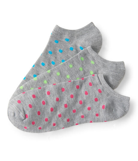 3-Pack Party Dot Ankle Socks