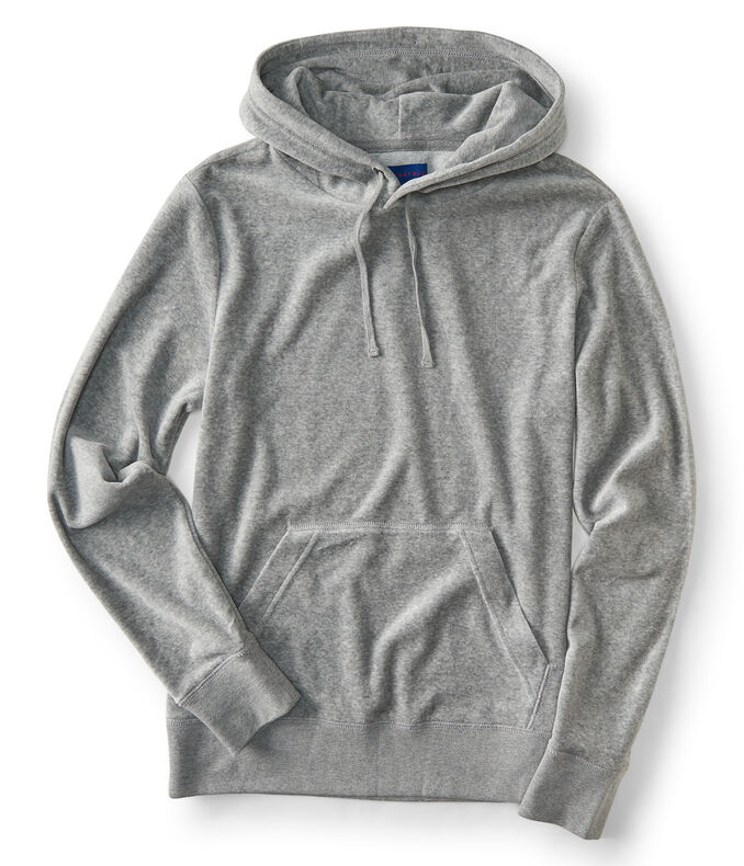 Velour Pullover Hoodie
