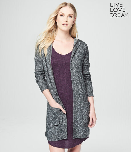 LLD Boucle Hooded Cardigan