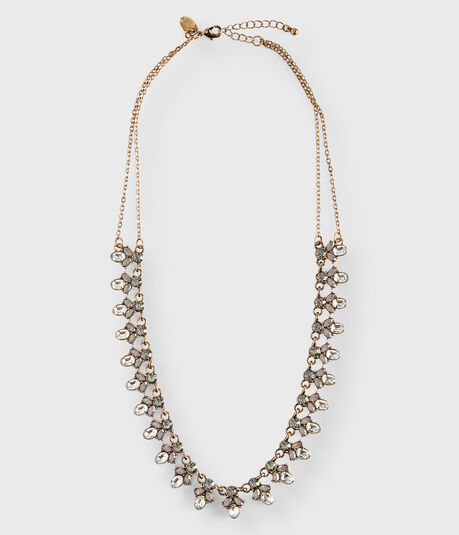 Flowerdrop Statement Long-Strand Necklace