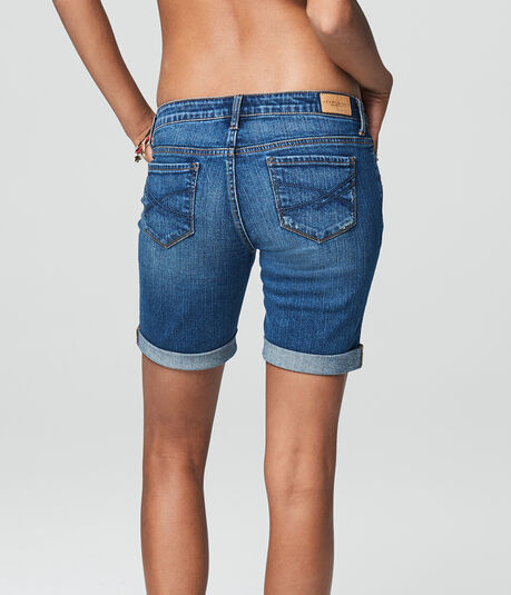 Medium Wash Denim Bermuda Shorts***
