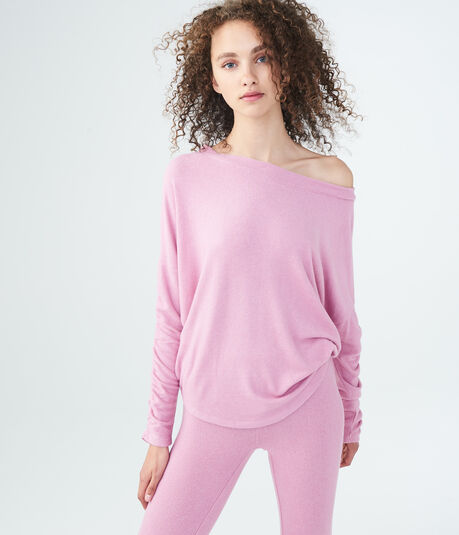 LLD Seriously Soft Ruched Sleeve Sweatshirt