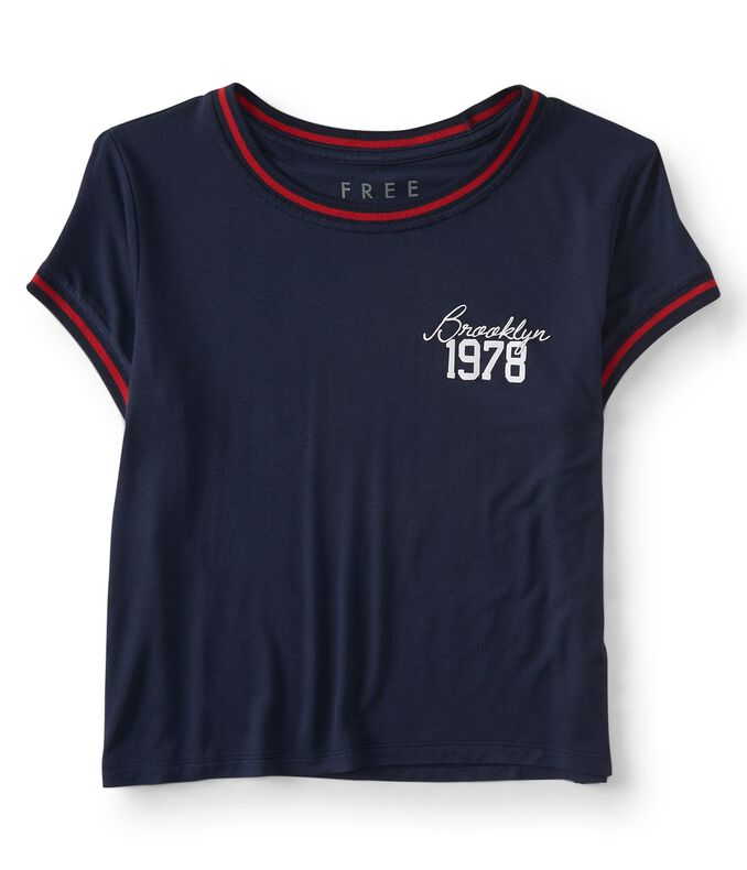 Free State Brooklyn 1978 Cropped Baby Tee