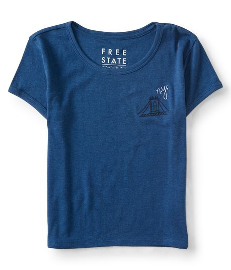 Free State NY Bridge Cropped Tee