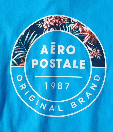 Tropical Aeropostale Circle Graphic Tee