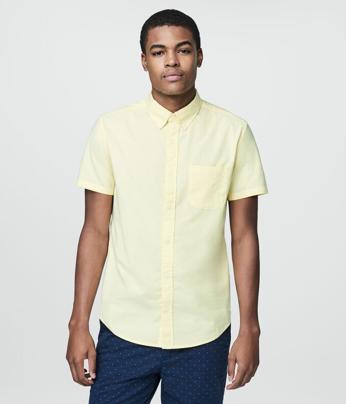 Prince & Fox Solid Oxford Stretch Button Down
