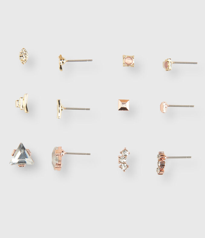 Triangle Stud Earring 6-Pack