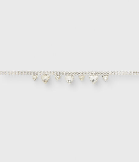 Rhinestone Triangle Choker Short-Strand Necklace