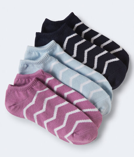 3-Pack Chevron Ankle Socks