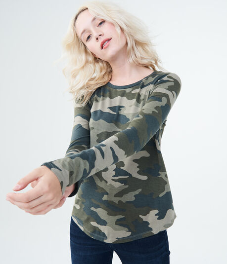 Long Sleeve Camo Tee