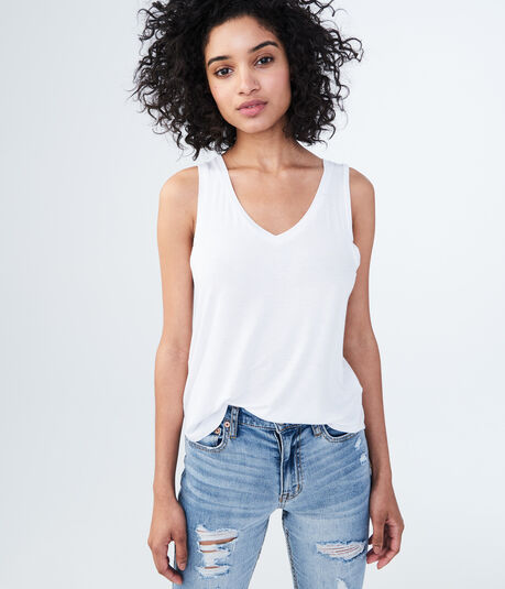 Solid High-Low Shirttail Tank