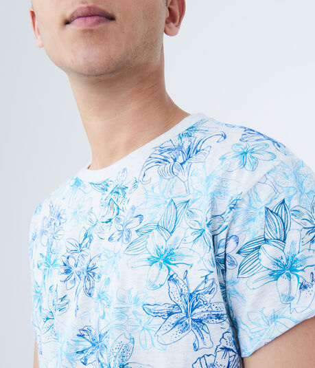 Neon Floral Graphic Tee