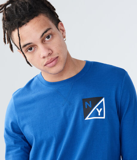 Long Sleeve Square Logo Graphic Tee