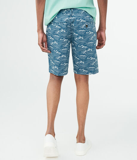 Rolling Waves Stretch Flat-Front Shorts