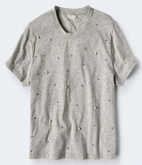Faux Pearl Tee