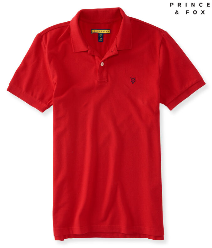 Prince & Fox Solid Stretch Pique Polo