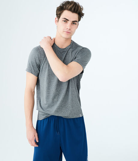 Solid Mesh Stretch Tee