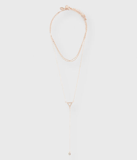 Triangle Y-Neck & Choker Short/Long-Strand Necklace 2-Pack