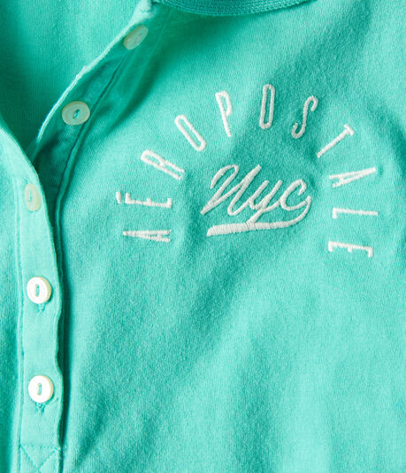Aeropostale NYC Graphic Jersey Polo