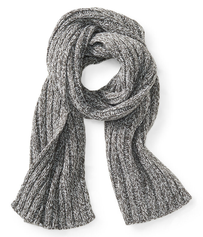 Two-Tone Rib-Knit Scarf