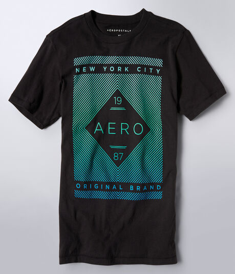 Final Sale - 19 Aero 87 Linear Logo Graphic Tee