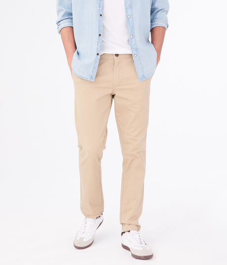 Solid Slim Straight Reflex Chinos