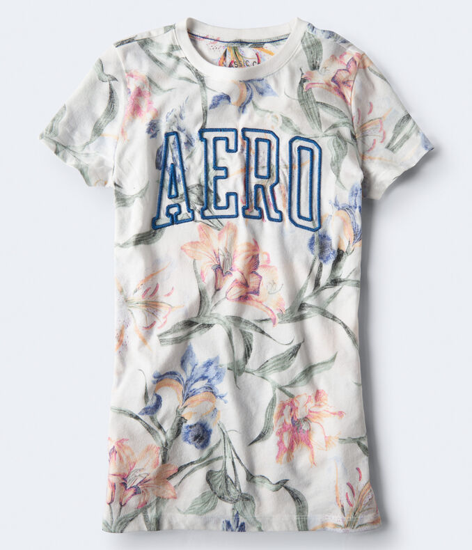 Floral Block Logo Graphic Tee by Aeropostale