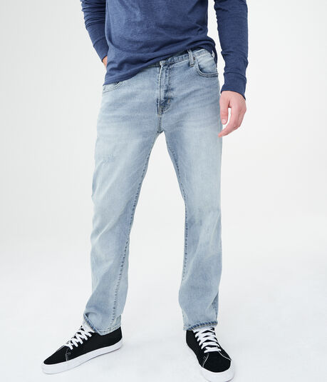 Straight Medium Wash Stretch Jean