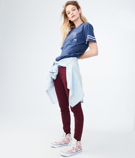 Aeropostale Stripes Graphic Tee