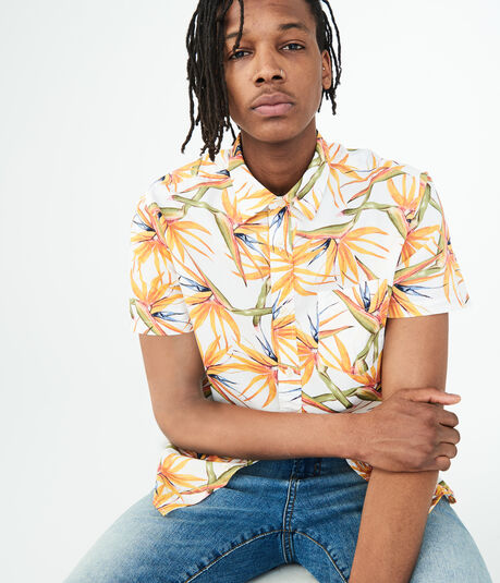 Bird-Of-Paradise Woven Shirt
