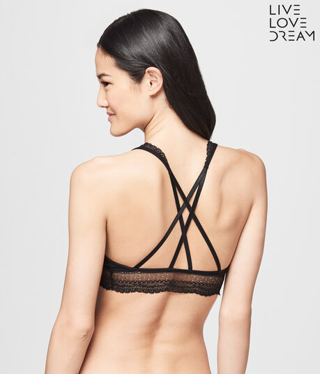 LLD Lace Strappy Cross-Back Bralette