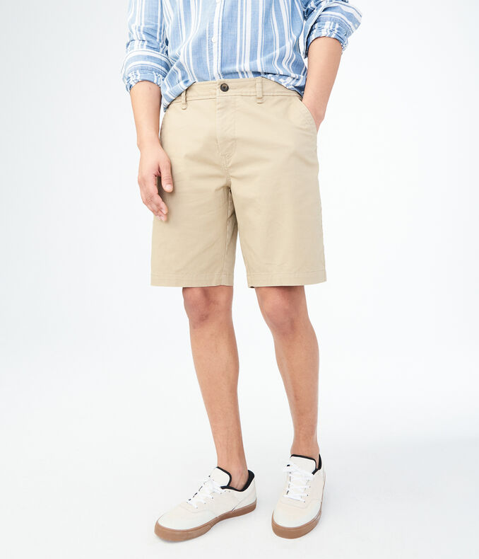 Classic Stretch Flat-Front Chino Shorts | Tuggl