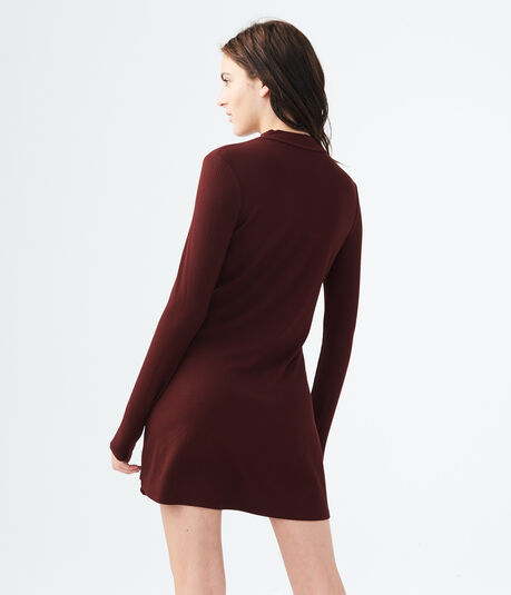 Solid Ribbed Choker Dress
