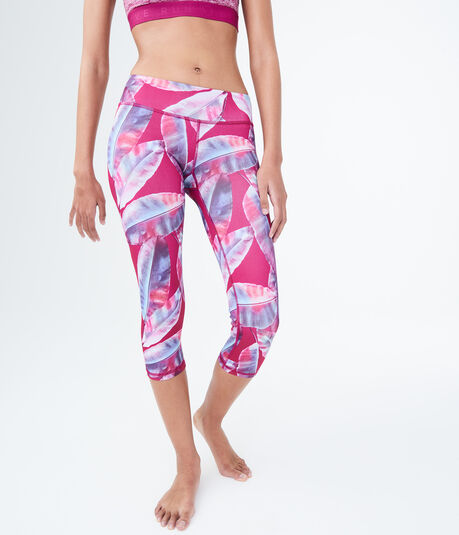 LLD Palm Leaf Crop Leggings