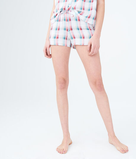 LLD Washed Plaid Sleep Shorts
