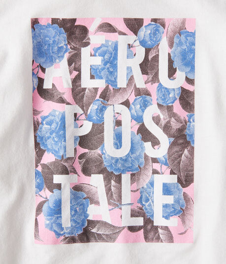 Aeropostale Floral Graphic Tee