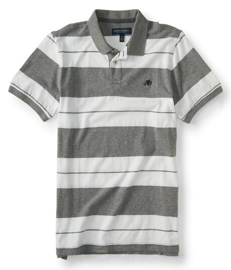 A87 Bar Stripe Jersey Polo