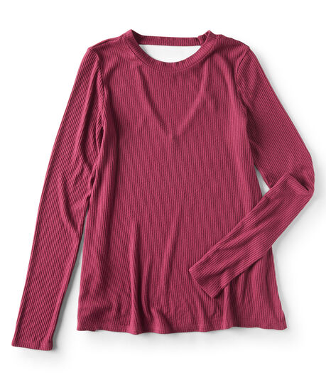 Long Sleeve Seriously Soft Ribbed V-Back Tee