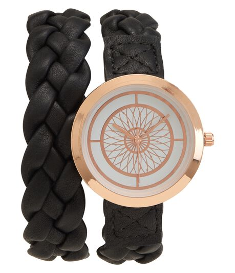 Braided Wrap Analog Watch