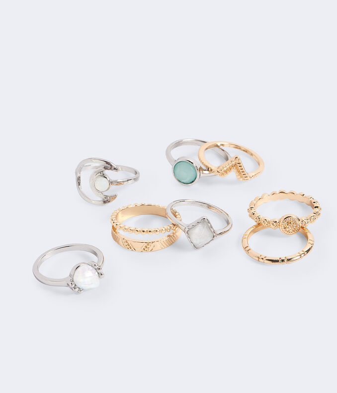 Aztec Moon Ring 8 Pack by Aeropostale