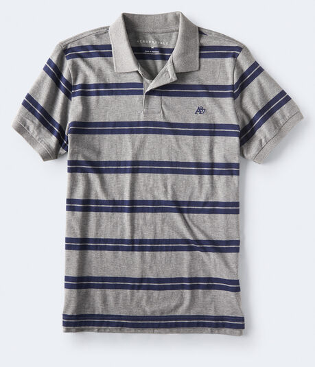 A87 Striped Jersey Polo