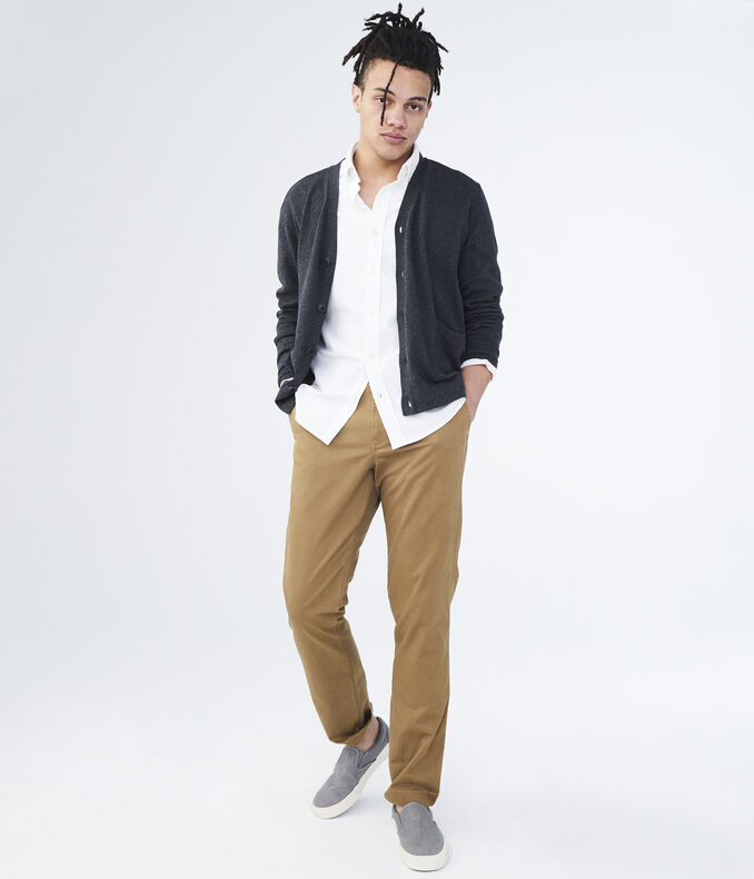 Solid Slim Straight Stretch Chinos | Tuggl