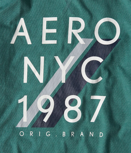 Long Sleeve Aero NYC 1887 Logo Graphic Tee