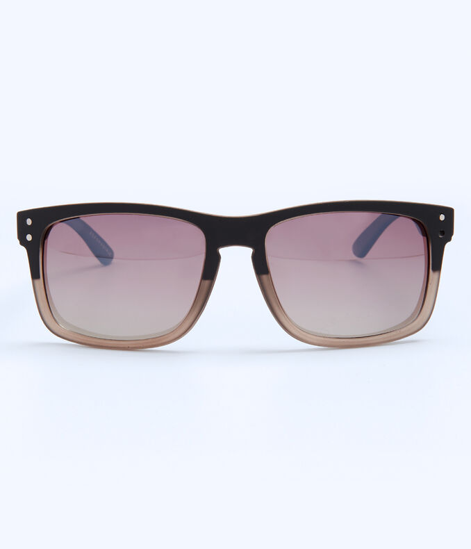 Polarized Plastic D-Frame Sunglasses