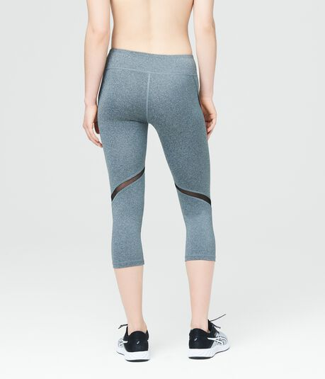LLD Heathered Swirl Inset Crop Leggings