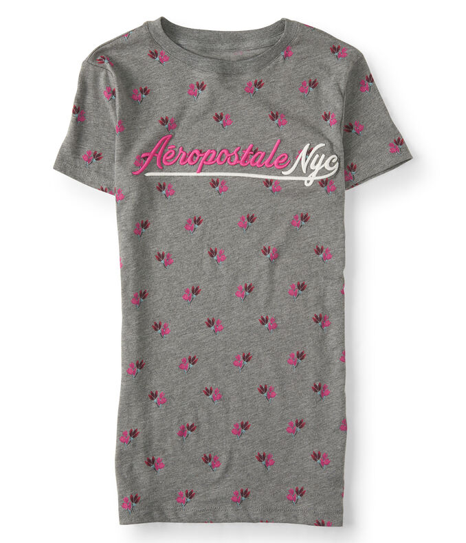 Floral Aeropostale NYC Graphic Tee
