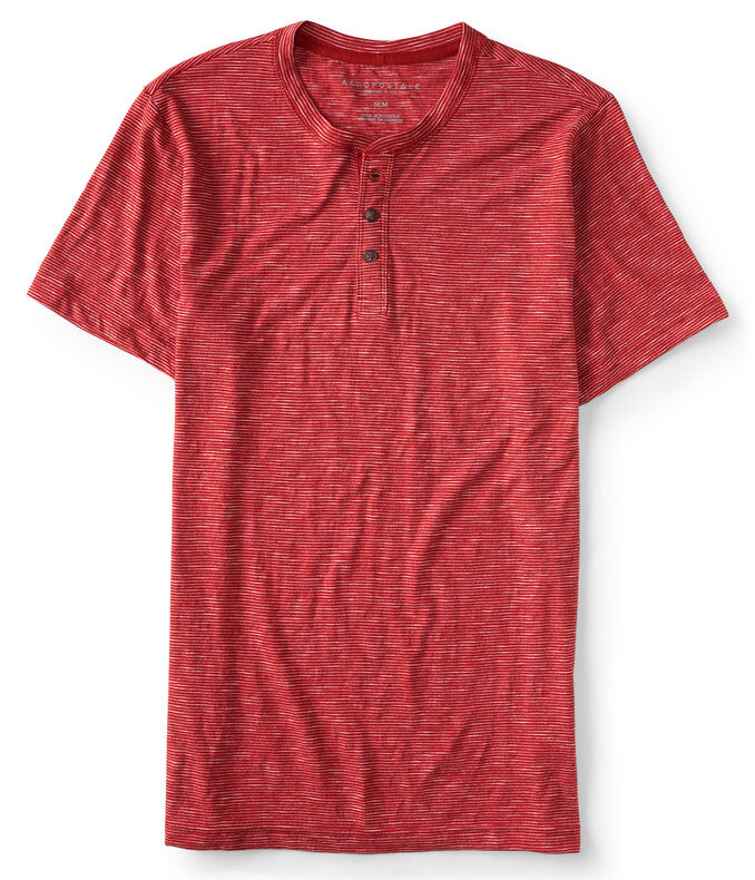 Thin Stripe Henley Tee